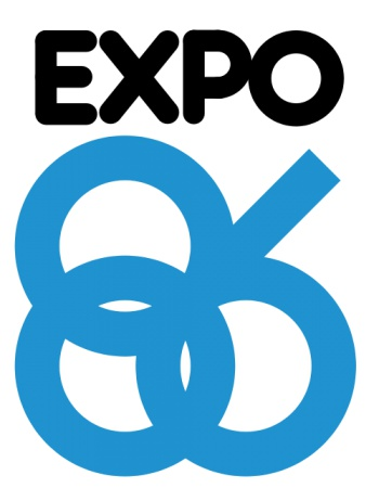 Expo 86 logo by Wikimedia Commons