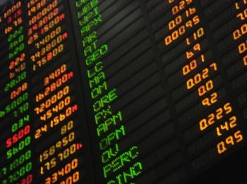 Stock Market Board by Katrina Tuliao