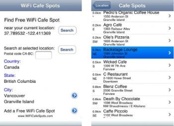 Vancouver Free Wifi Screenshot