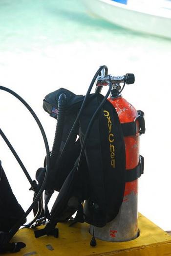 Scuba Diving Equipment by Nazir Amin