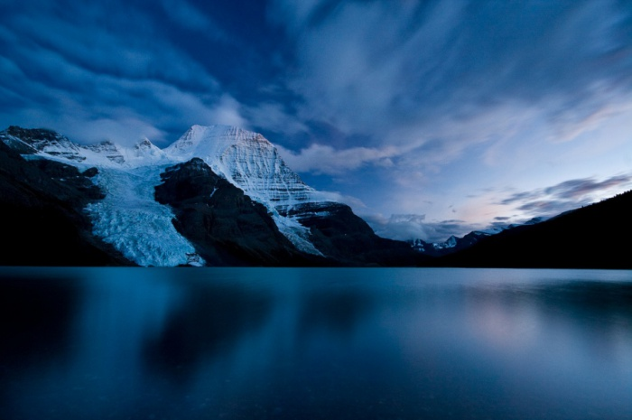 Berg Lake Twilight by Jeffrey Pang