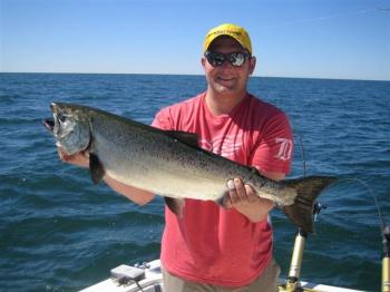 salmon fishing michigan