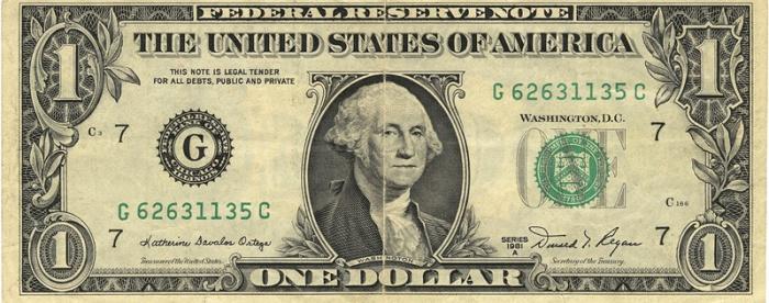 1 US Dollar by Miran Rijavec