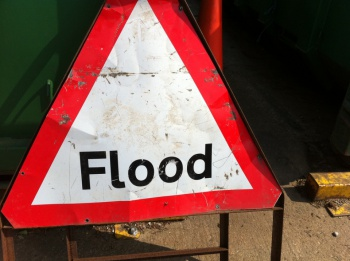 Flood Sign by Howard Lake