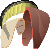 Illustration of InflatableR BowL and FoilT Power kites