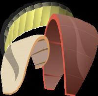 Illustration of InflatableR BowL and FoilT Power kites