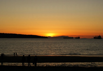 English Bay Sunset by Tony B