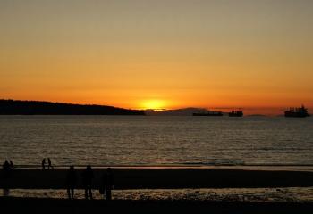 English Bay Sunset by Tony B