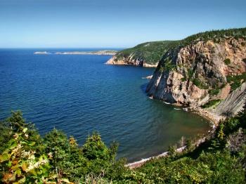 Cliffs around Smelt Brook Cape Breton Island by Wikimedia Commons