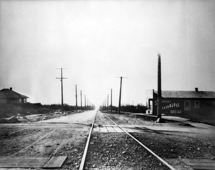 Streetcar tracks Dunbar