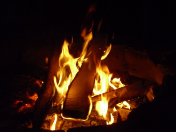Camp fire by jon Ross
