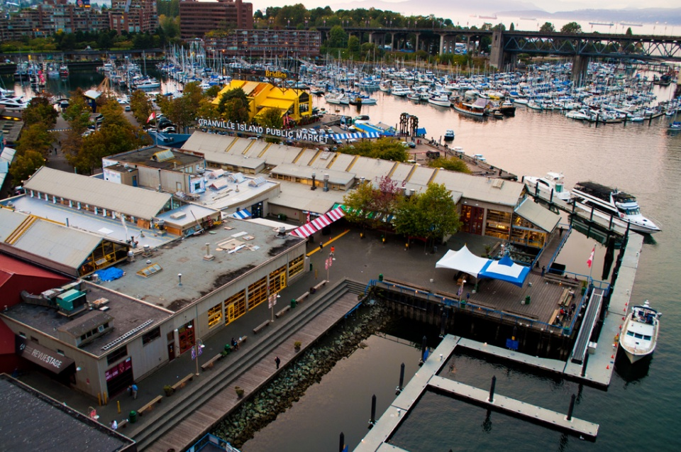 ... main attraction is the Granville Island Public Market with fresh foods