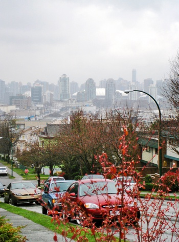 View of the city from East Van by Carolyn Coles