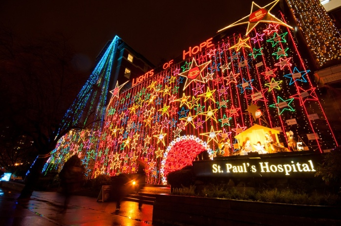 Christmas decorations St Pauls Hospital