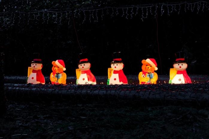 Christmas snowmen lights