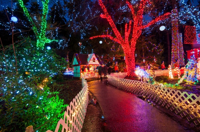 Stanley Park with Christmas decorations