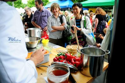 Chef Ned Bell Cooks On Trout Lake Farmers Vancouver Market