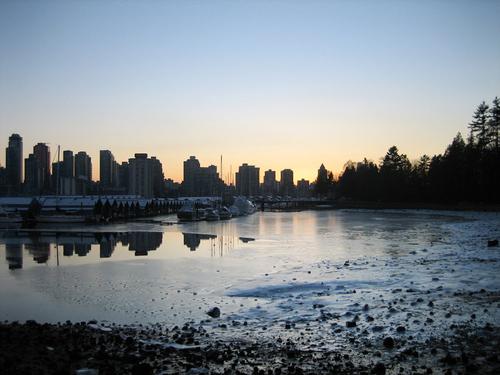 Vancouver Winter Skyline by Sandip Chatterjee