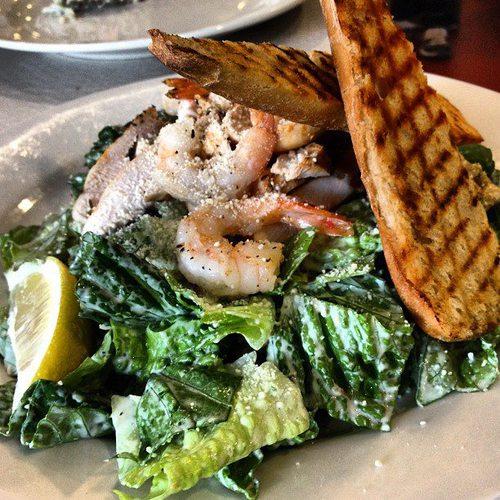 Chicken Prawn Caesar Acme Cafe