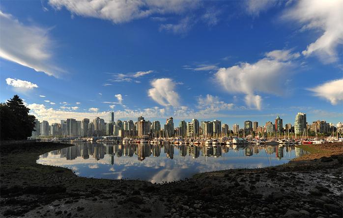 Vancouvers Coal Harbour cityscape