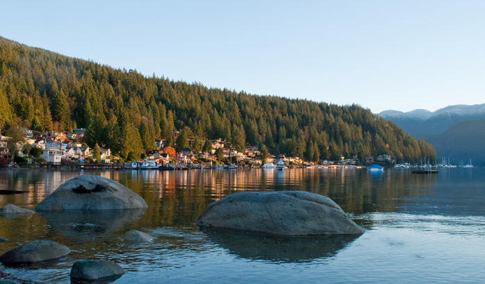 Deep Cove coast sunrise