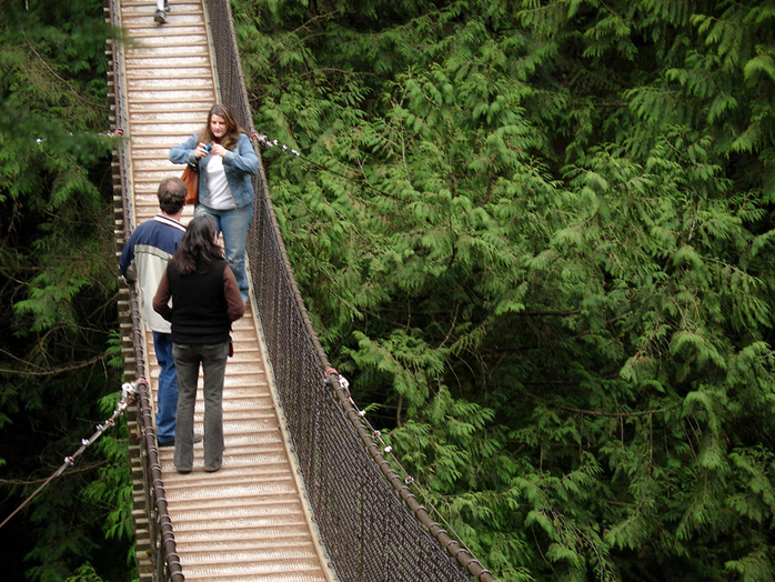 Lynn Canyon Suspension Bridge by Richard Winchell