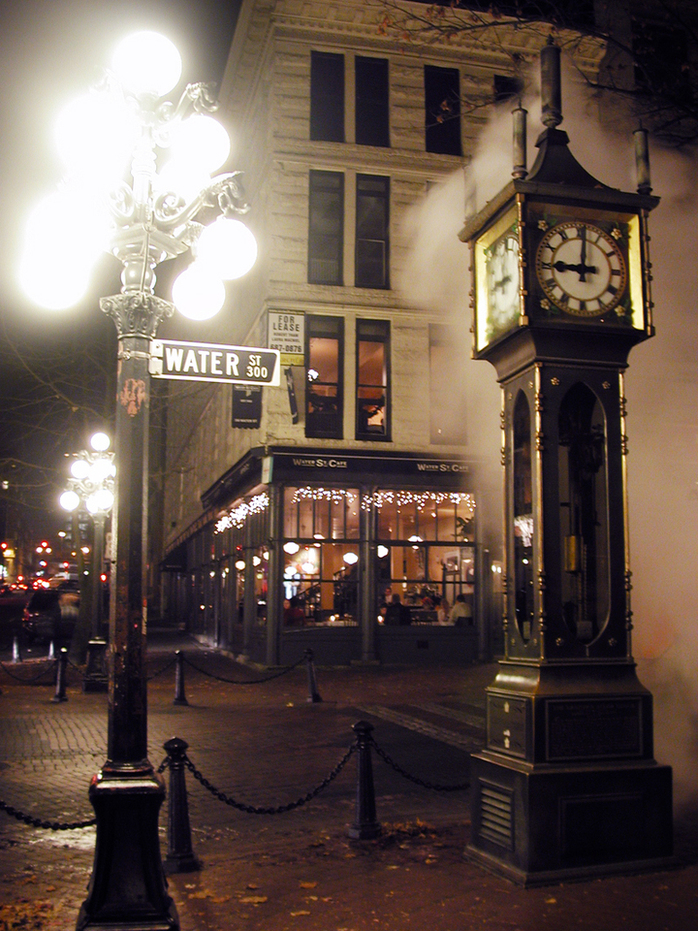 The Gastown steam clock by Jeff Kramer