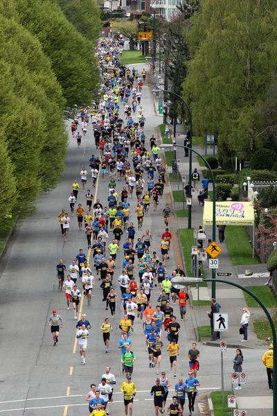 View of the Athletes Vancouver SunRun 2013