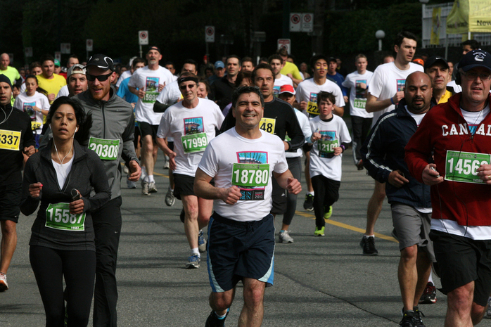 Happy Athlete in Vancouver SunRun 2013