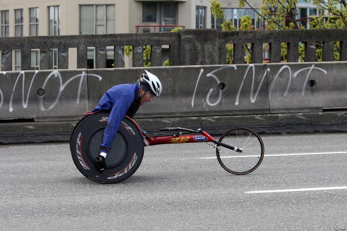 SunRun wheelchair athlete