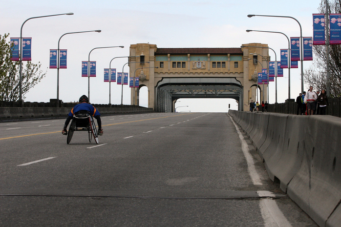Vancouver SunRun across Burrard Bridge