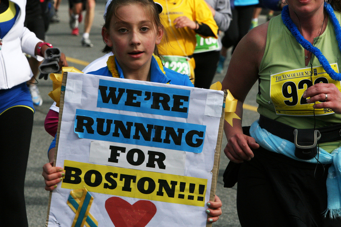 Vancouver Supports Boston Marathon Victims