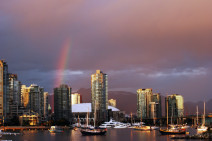Rainbow Over Vancouver