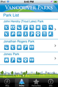 Vancouver Park App