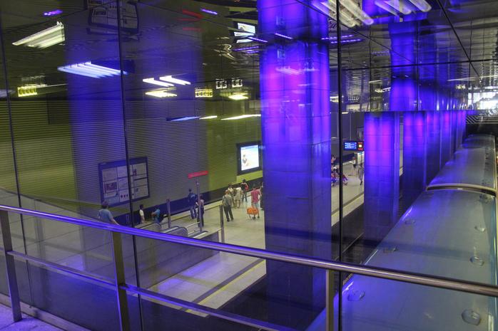 Muenchner Freiheit Station by Metro Centric