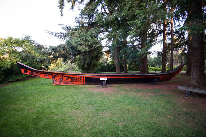 Native American Red Canoe