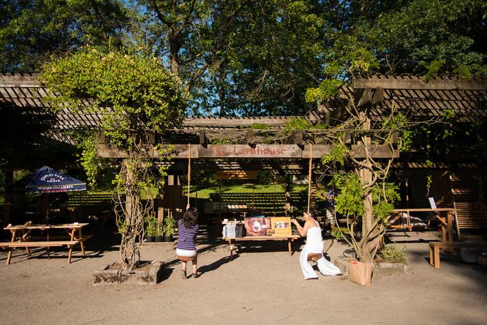 Playing in VanDusen Botanical Garden