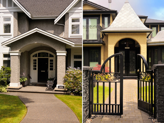 South Cambie Home Entrances