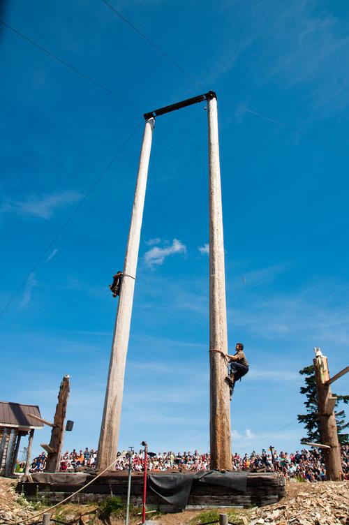 Lumberjack Show Pole Climbing