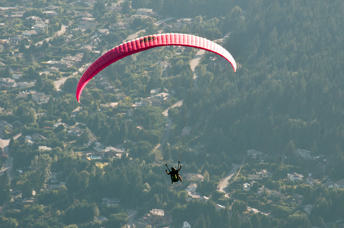 Paragliding at Grouse Mountain