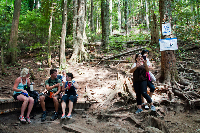Stops at Grouse Grind