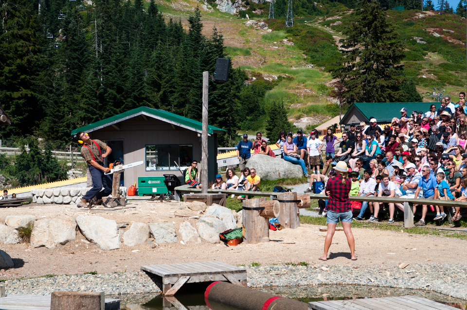 The Popular Lumberjack Show At Grouse Mountain