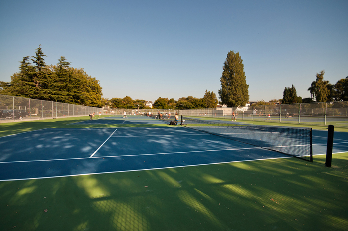 Kits Beach Tennis Courts in Vancouver