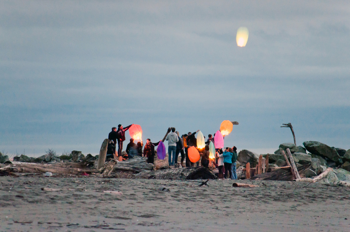 Lucky Lanterns at Wreck Beach