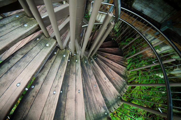 Staircase to the Cliff Walk in Capilano