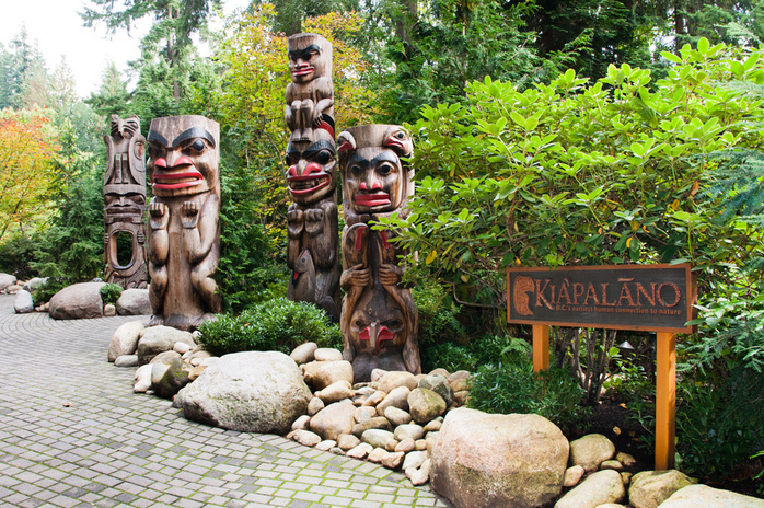 Wooden Totems in Capilano Suspension Bridge Park