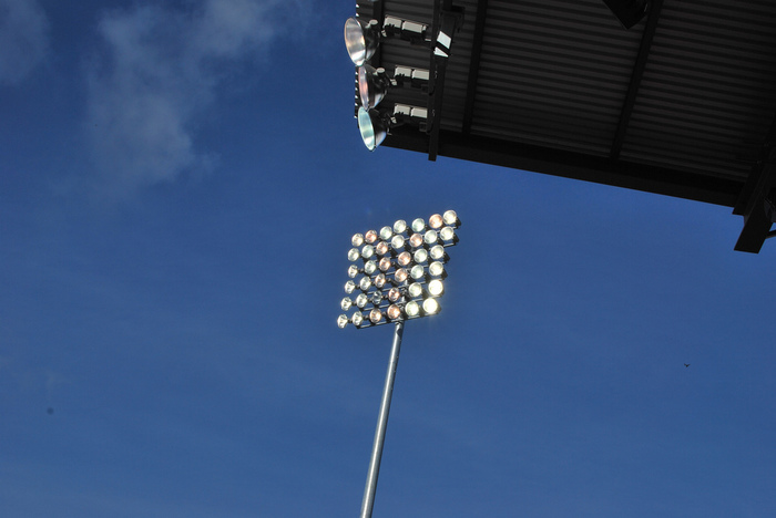 Lights at Empire Stadium by Karen Neoh