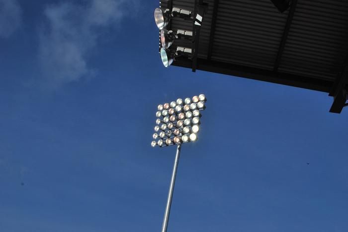 Lights at Empire Stadium by Karen Neoh