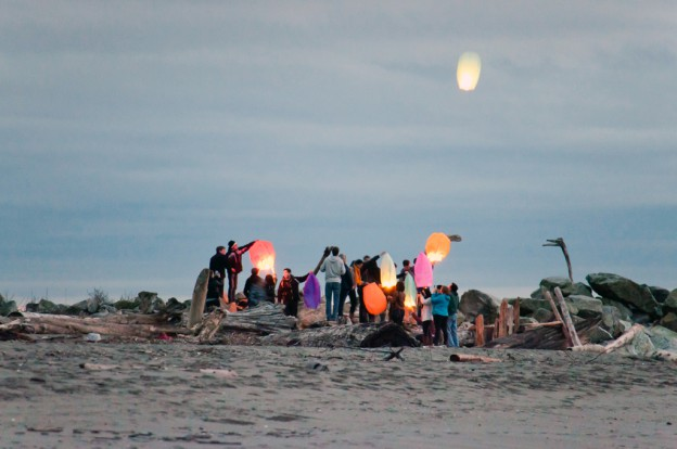 Lucky Lanterns on the Beach