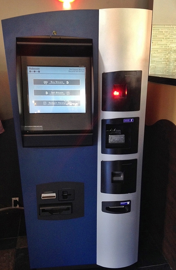 Worlds First Bitcoin ATM in Waves Coffee Vancouver by Marc Van der Chijs